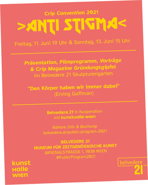 Ankündigung Veranstaltung Anti Stigma